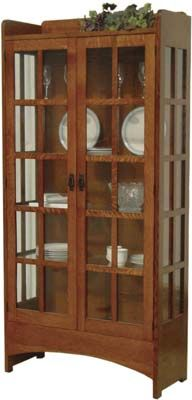 Mission Display China Cabinet | Mission Style China Cabinet | Indiana Amish  Cabinet