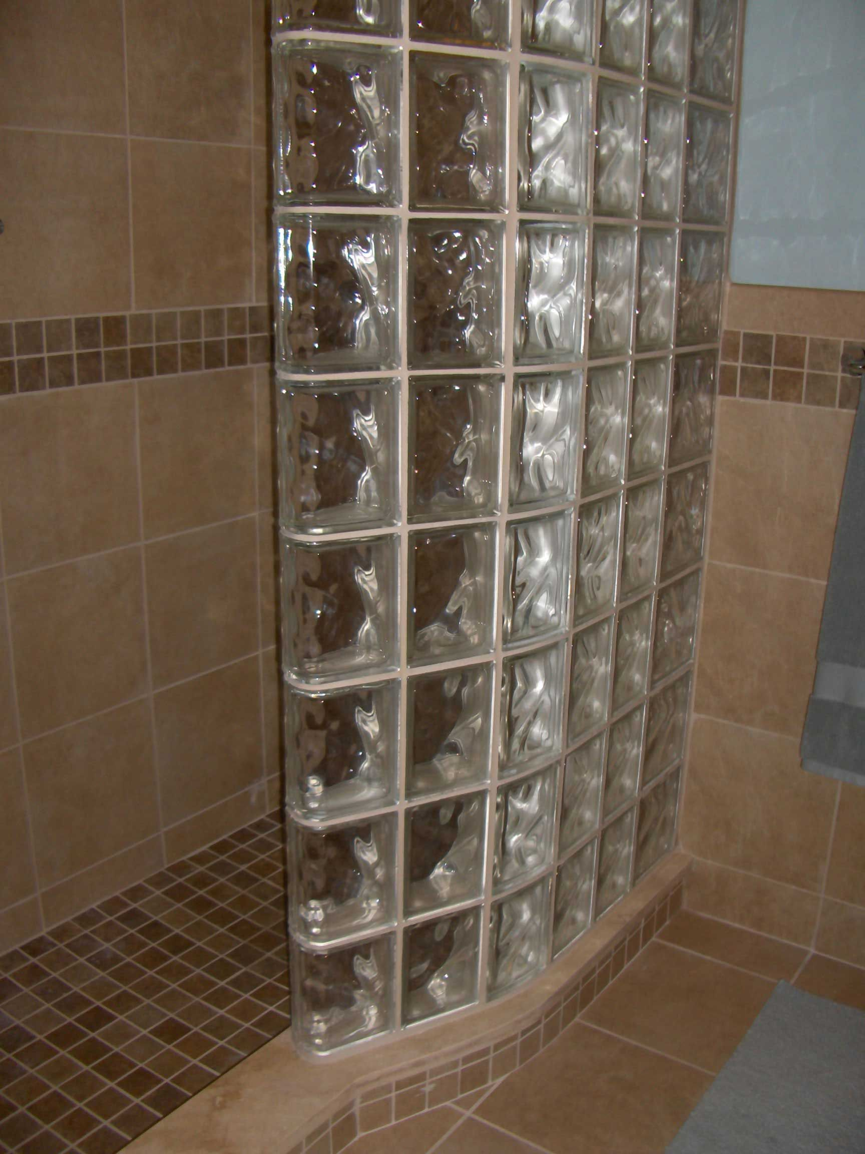 glass block shower wall for small bathroom showers for small bathrooms idea - Bathroom Designs Using Glass Blocks