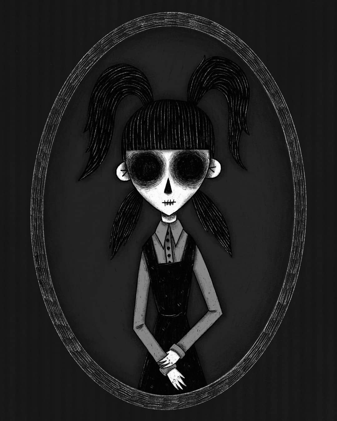 Elsa Van Helsing The Next And Final Drawing Of The Frankenweenie Portraits Is Going To Be Victor Of Course Drawings Tim Burton Films Goth Art