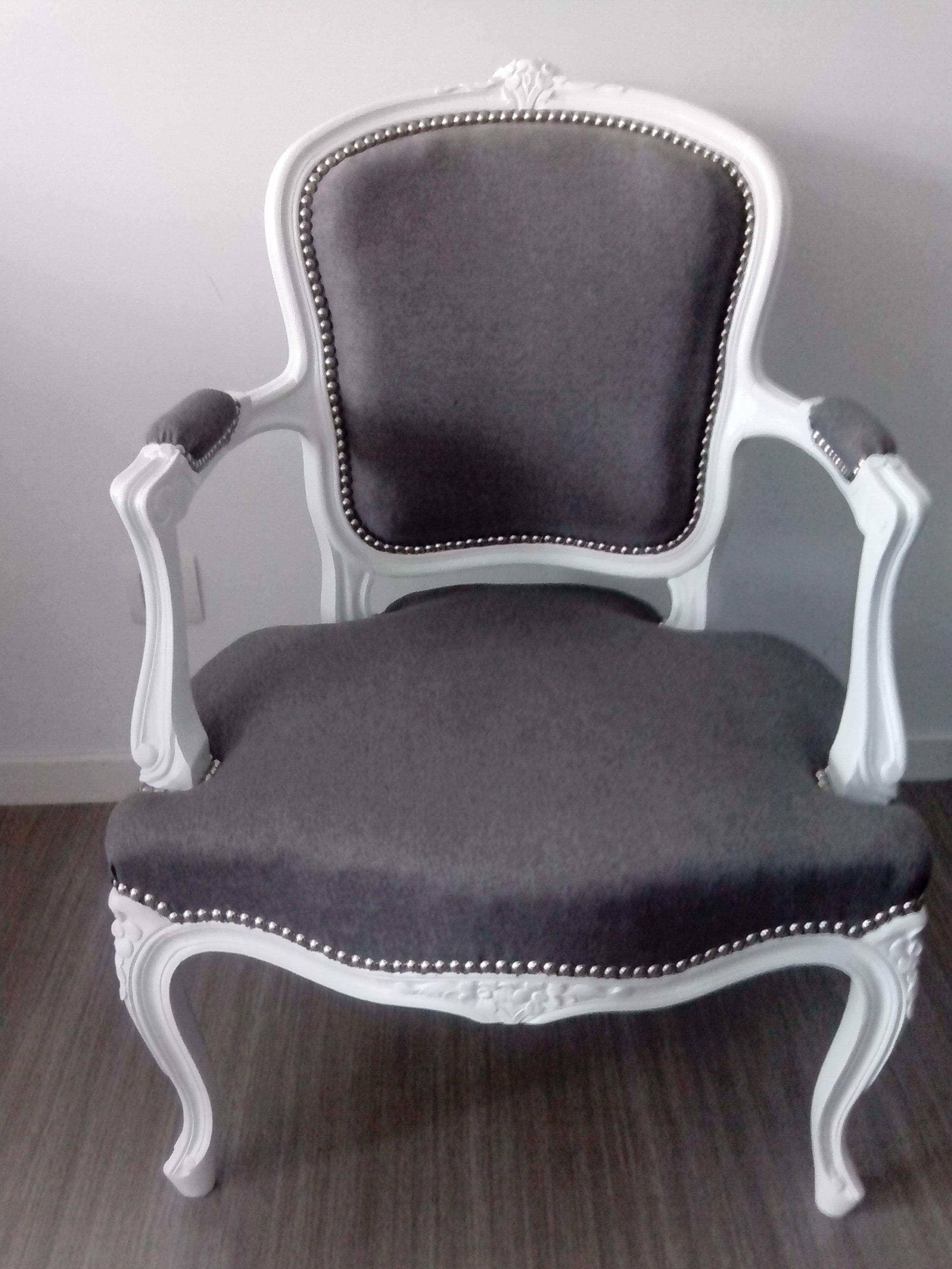 fauteuil de style louis xv relooke