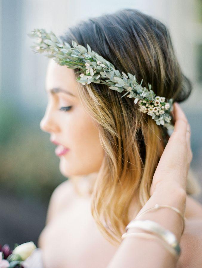 Rustic bridesmaid crown: http://www.stylemepretty.com/oregon-weddings/west-linn/2016/04/05/an-1887-farmhouse-played-host-to-this-rustic-garden-wedding/ | Photography: Sweetlife Photography - http://www.lovethesweetlife.com/