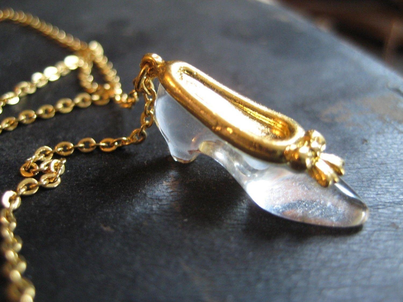 Vintage 80 S Avon Glass Slipper Necklace Avon Jewelry Glass Slipper Vintage Jewelry