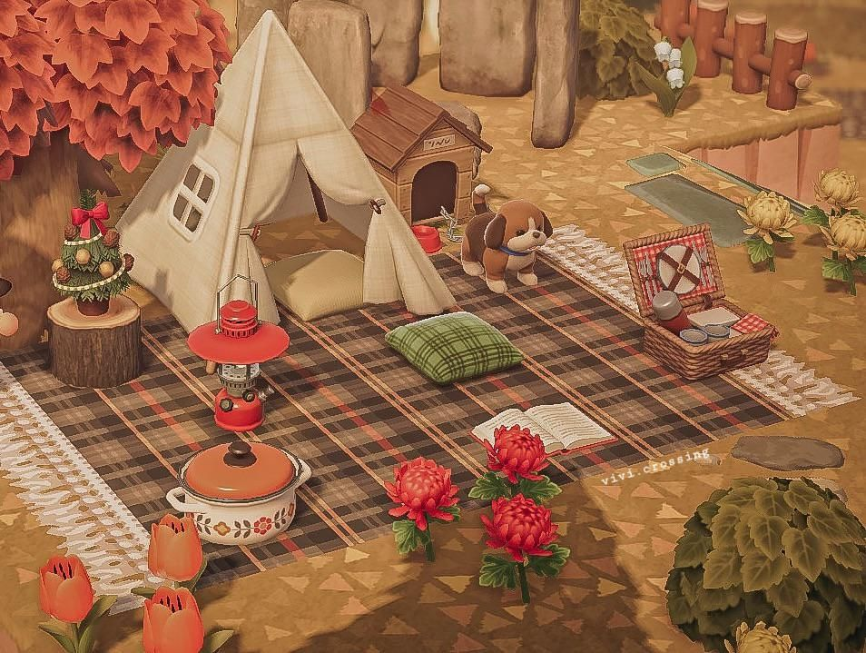 And here I am setting up my second campsite ⛺️🥰
