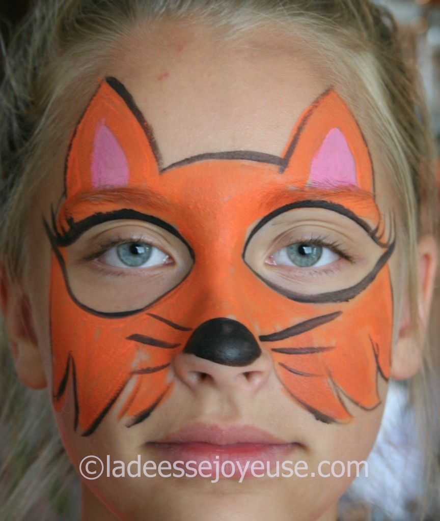 Maquillage Déguisement, Maquillage Facile, Maquillage Enfant Animaux,  Maquillage Enfant Kermesse, Maquillage Carnaval, Calin, Renards, Tatouages,