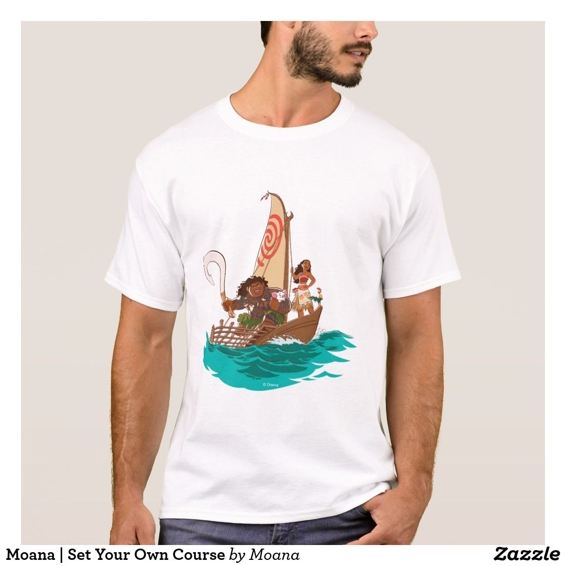 Moana   Set Your Own Course. Customizable product available in Zazzle store. Producto personalizable disponible en tienda Zazzle. #camiseta #shirt