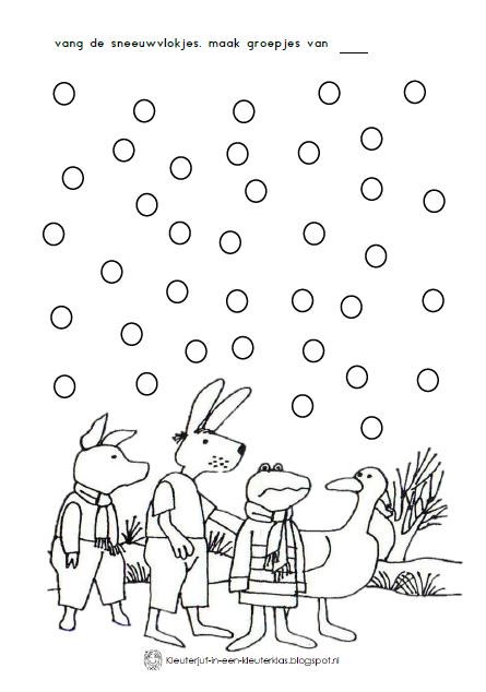 thema winter werkblad kikker in de kou kikker thema