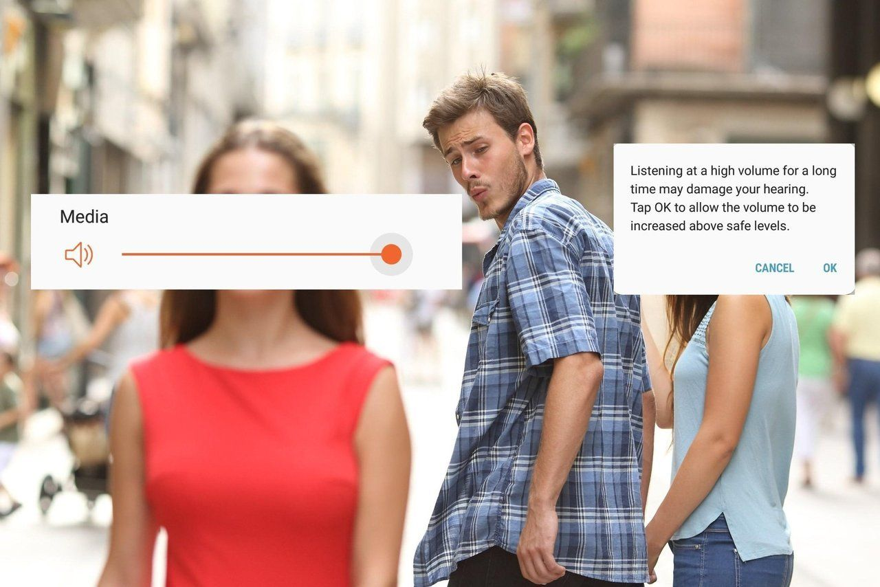 It Me Distracted Boyfriend Meme Applied To High Volume Warning From Your Mobile Device Phone Funny Pictures Funny Memes Memes