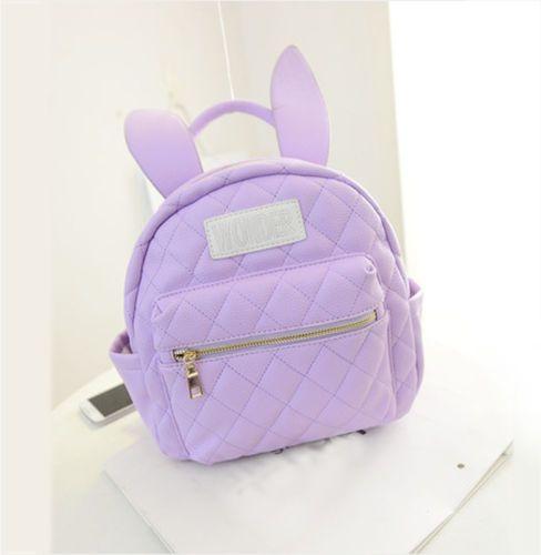 8cfbe3227285 Bunny-Ear-Backpack-Wonderland-Rabbit-Pastel-Cute -Harajuku-Small-Daily-School-Bag