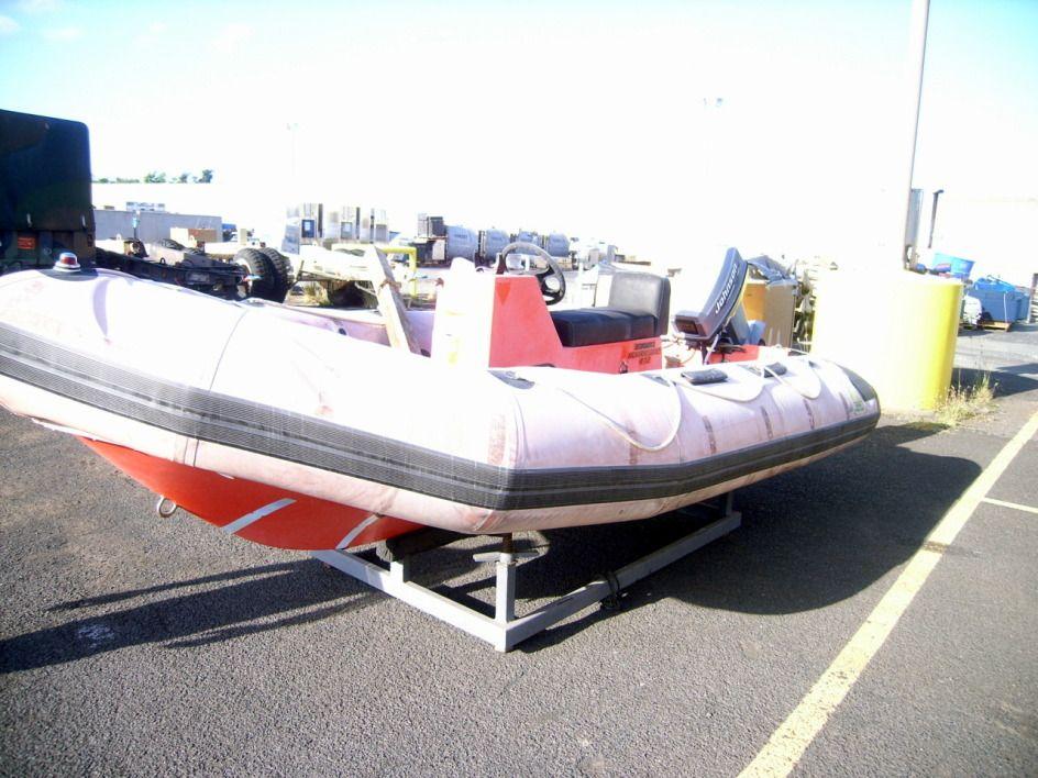 Zodiac Hurricane 472 Small Craft Boat Model H472S, with a Johnson 50 horsepower motor