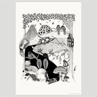 Mini Empiren ihana Deep Woods -juliste on saanut vaikutteita mystiikasta ja ihmeellisistä eläimistä pohjoisten metsien syvyyksissä.