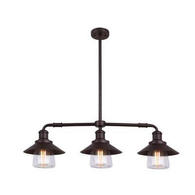 Home Depot Pendant Lights For Kitchen Canarm Ltd Indi 3 Light Orb Pendant Clear Glass  Ipl521A03Orb