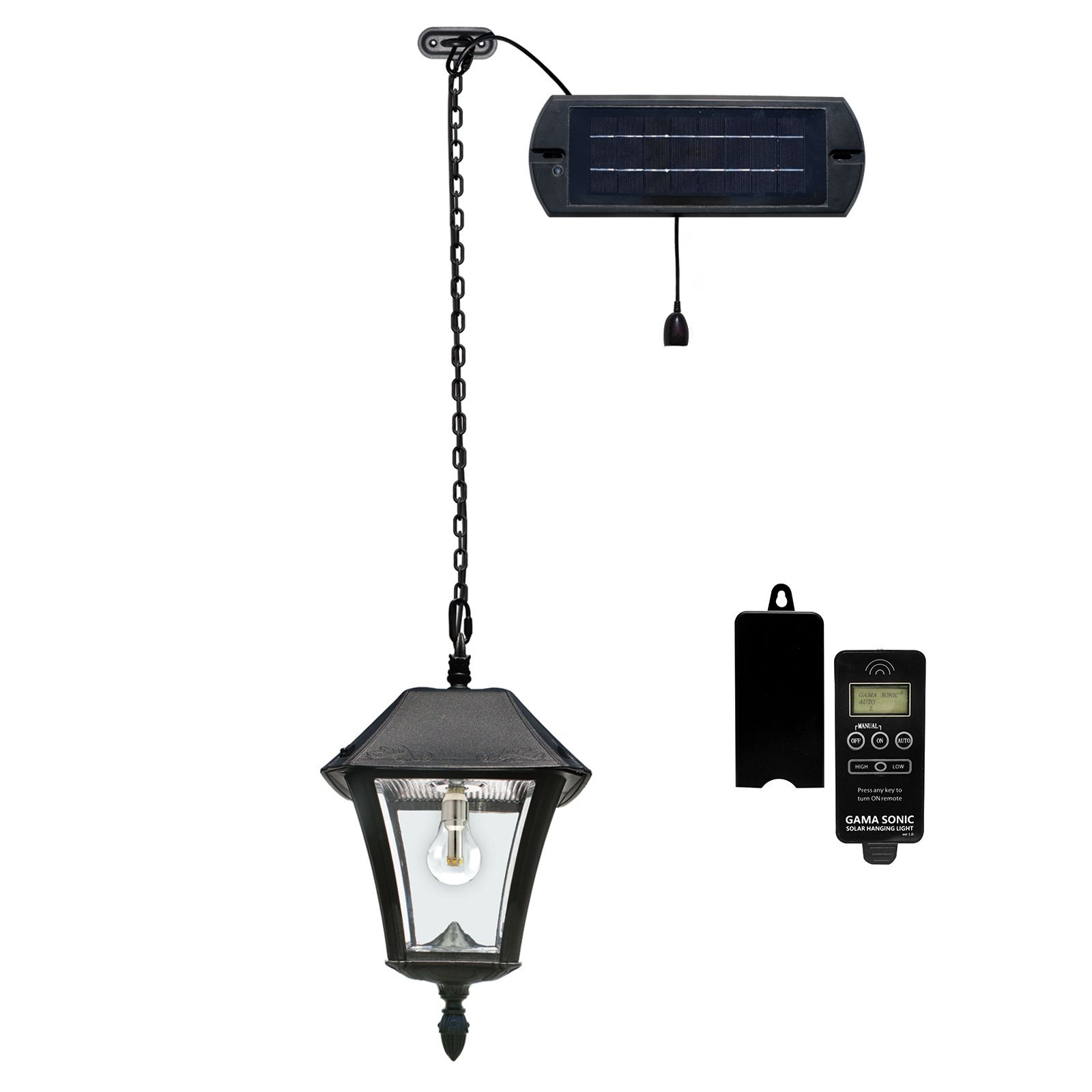 Baytown Ii Bulb Solar Hanging Light Gs 105b Cx Hanging Lights Outdoor Hanging Lights Solar Led Lights