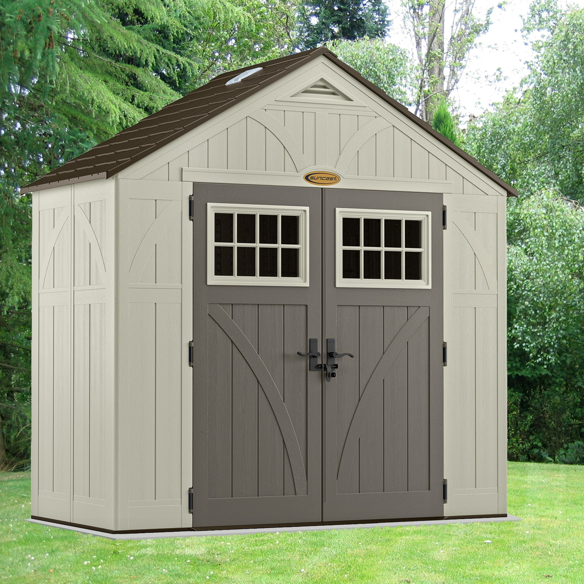 Suncast Tremont 8 x 4 ft Shed Shed, Apex roof, Garden