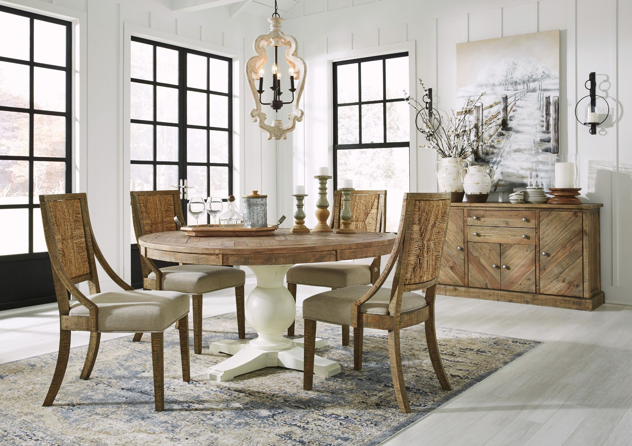 Grindleburg Light Brown Round Dining Table In 2020 Dining Room
