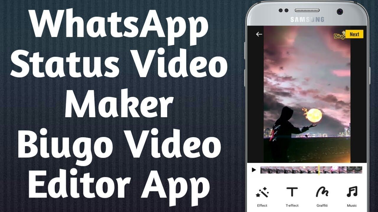 How To Use Biugo App Whatsapp Video Status App Whatsapp