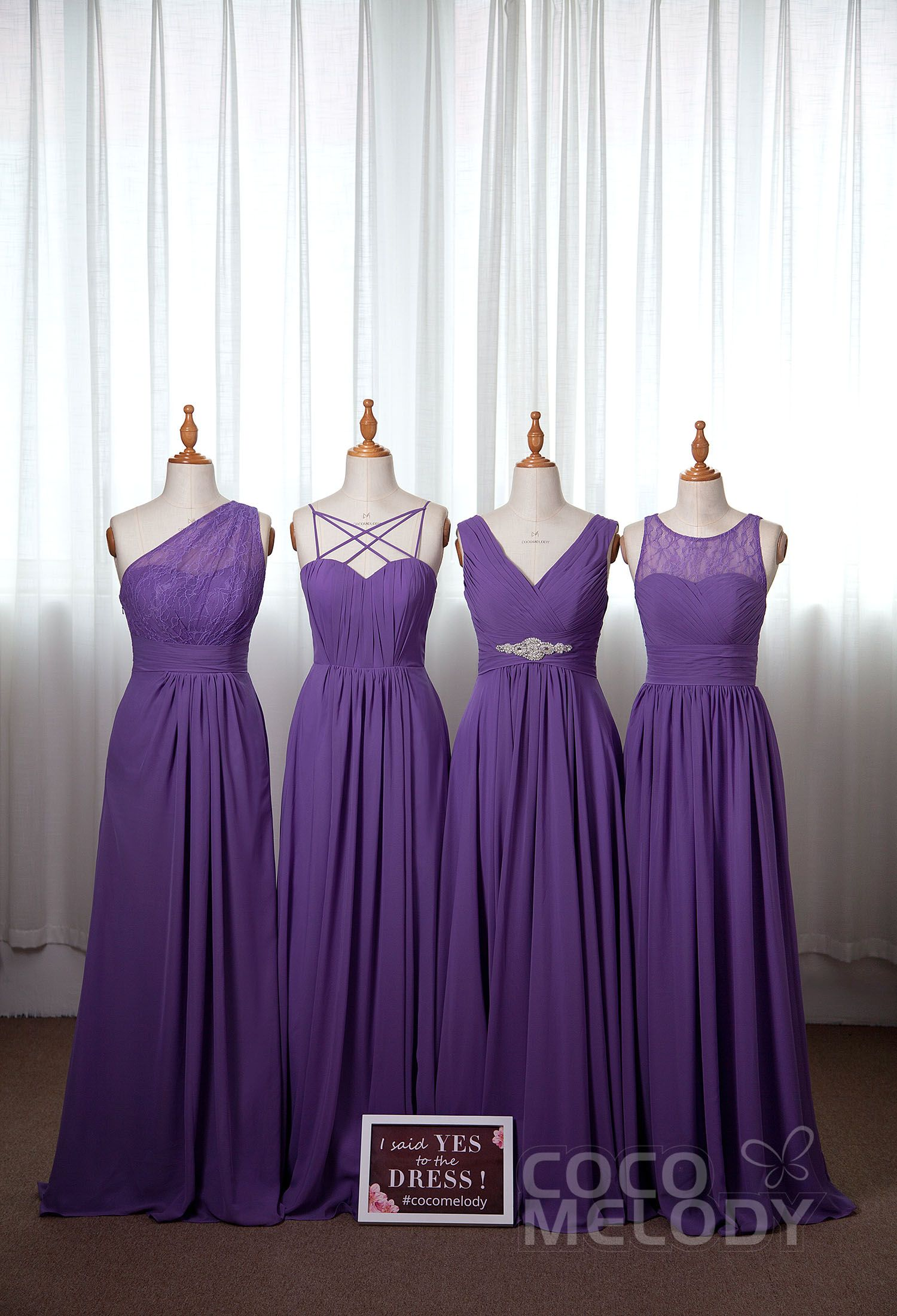 Different Styles But In The Same Popular Purple Color Great Inspiratio Royal Purple Bridesmaid Dress Light Purple Bridesmaid Dresses Purple Bridesmaid Dresses [ 2200 x 1500 Pixel ]