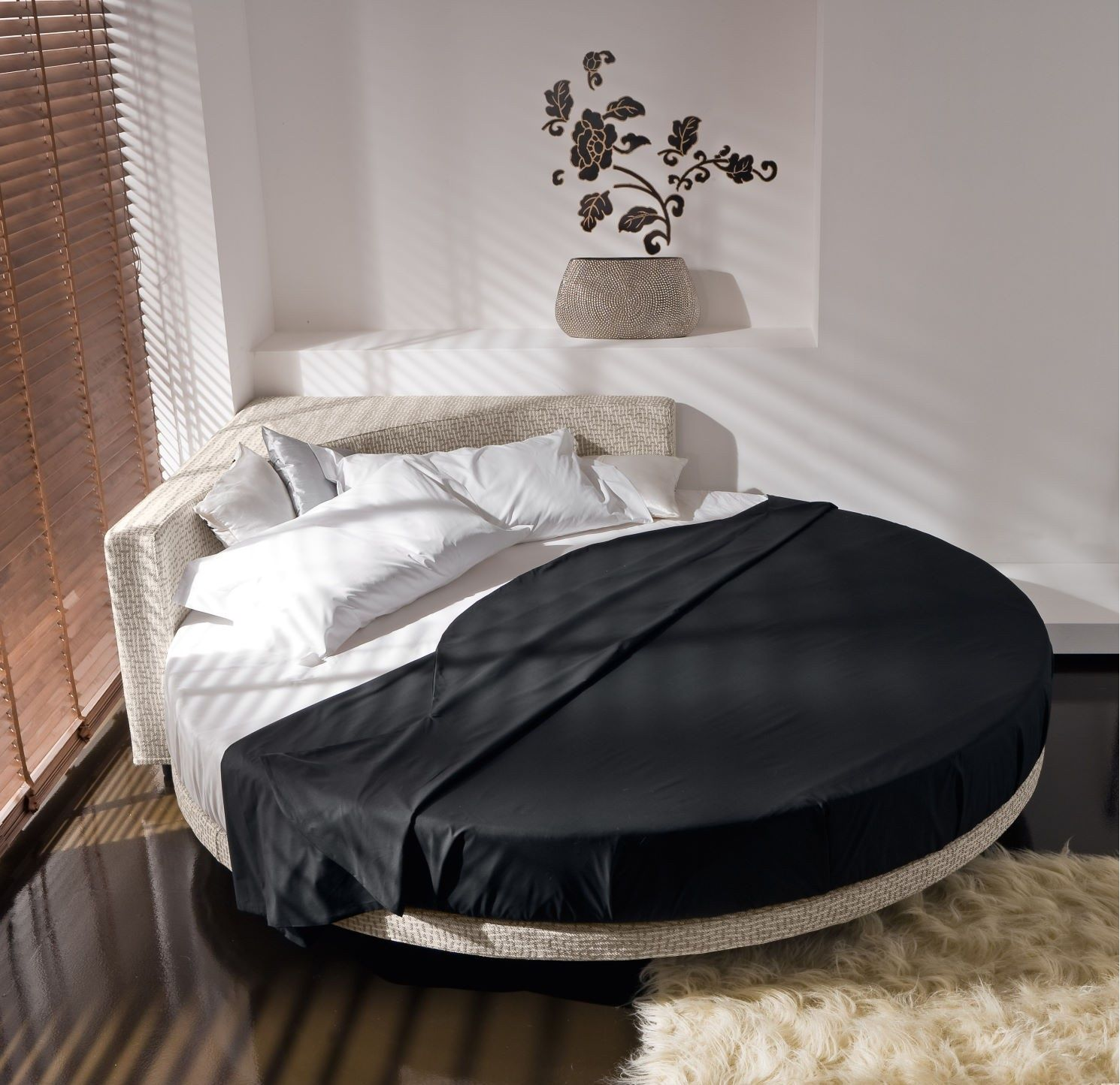 Ankita Kumari on Round beds, Bed design, Circle bed