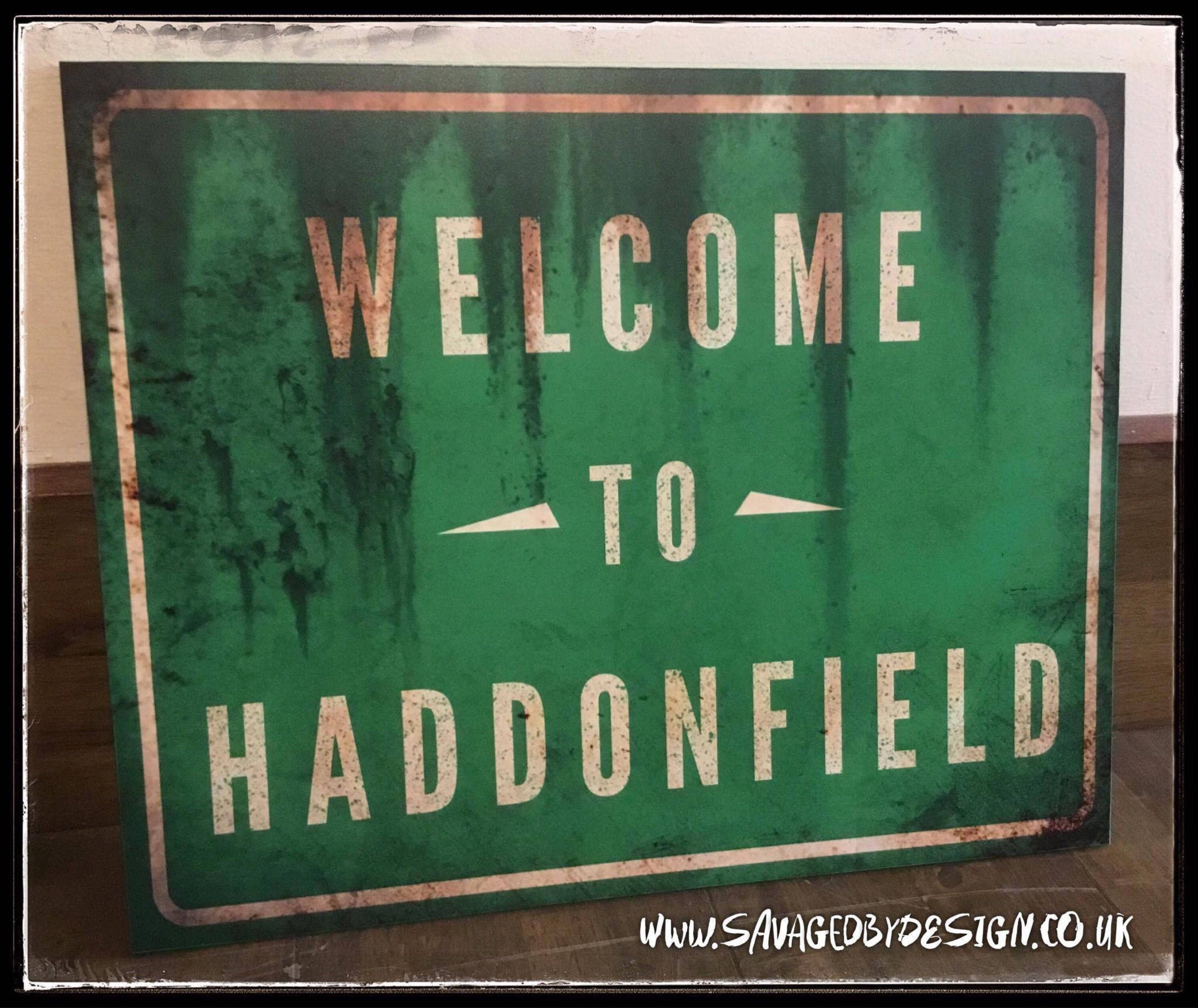 7a939bbc459e Welcome to Haddonfield Sign Print from Halloween