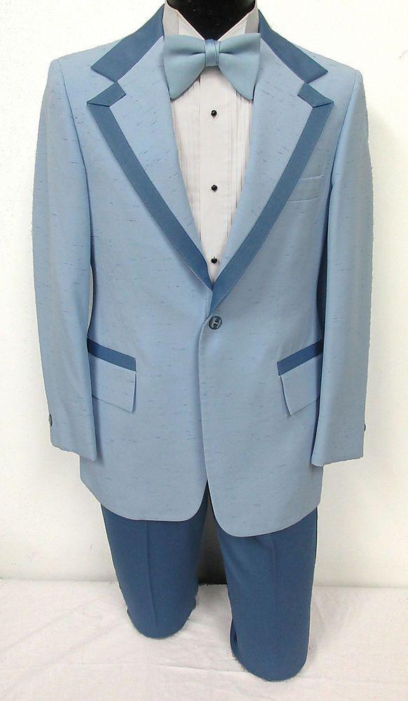 Boys Vintage Blue Tuxedo Jacket Wedding Ringbearer Theater Costume ...