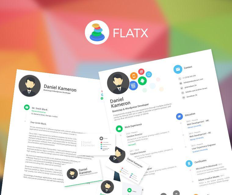 FlatX Resume Pinterest Cv resume template, Cover letter template