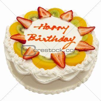 Birthday Cake Decorated With Fruit Google Search Fresh Fruit Cake Fruit Birthday Cake Fruity Cake