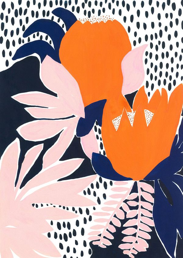 Textile designer Cassie Byrnes creates colorful, abstract patterns that she applies to collections of housewares, screen printed artwork, and clothing.
