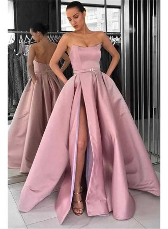 schöne lange abendkleider  abendkleid lang rosa günstig modellnummer dd0147  ☆dresses☆ in
