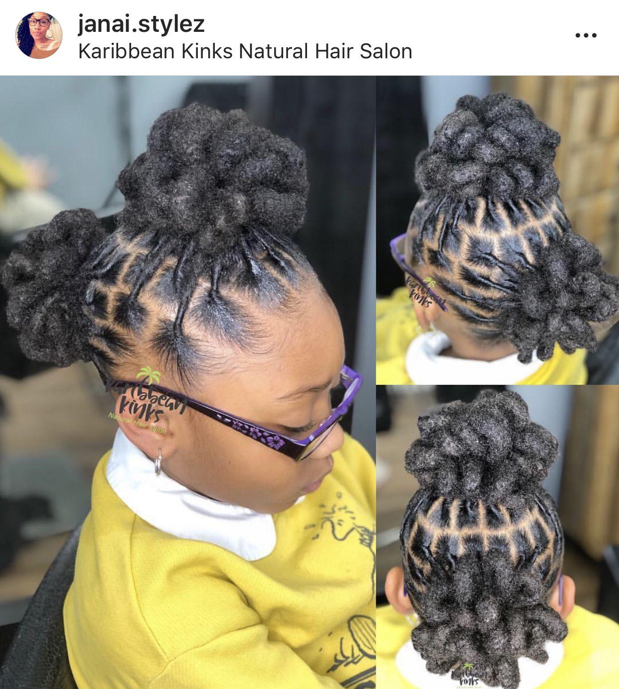 Locs By Janai Stylez At Karribean Kinks Natural Hair Salon Maryland Natural Hair Styles Short Locs Hairstyles Lil Girl Hairstyles