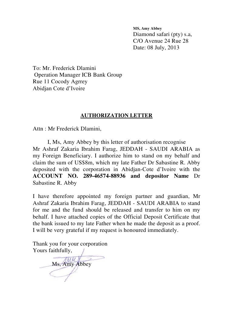 Authorization letter claim passport legal sample request birth authorization letter claim passport legal sample request birth certificate serversdb yadclub Images