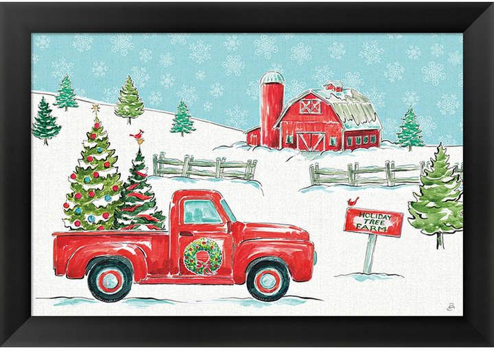 27b79d45ca7 Christmas In The Co1 By Daphne Brissonnet Framed Art