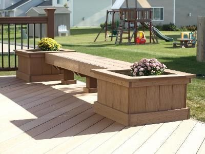 Decks With Benches And Planters | Bench   Planter Combination On Deck,  Altoona   Accessories Photo .
