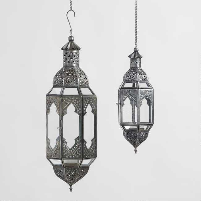 Cast A Warm Glow In Your Home With Our Beautifully Handcrafted Latika Lanterns From India Made Of Glass And Metal Wi Hanging Lanterns Indian Lanterns Lanterns