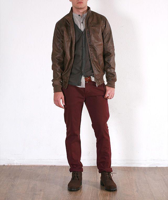 Camisa Raya Luna 15,99€* / Chaleco con vivos 8,99€* / Cazadora Polipiel 39,99€* / Pantalón Gabard.media 19,99€* // *p.v.p. final #moda #fashion #look