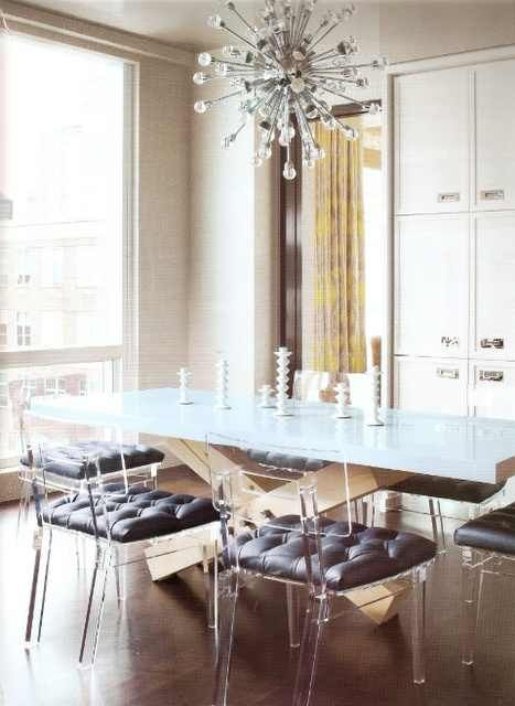 Tufted Seat Cushions On Lucite Dining Chairs Habitat Muses
