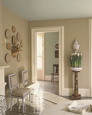Our Favorite Colors | Hallway walls, Trim work and Dinnerware