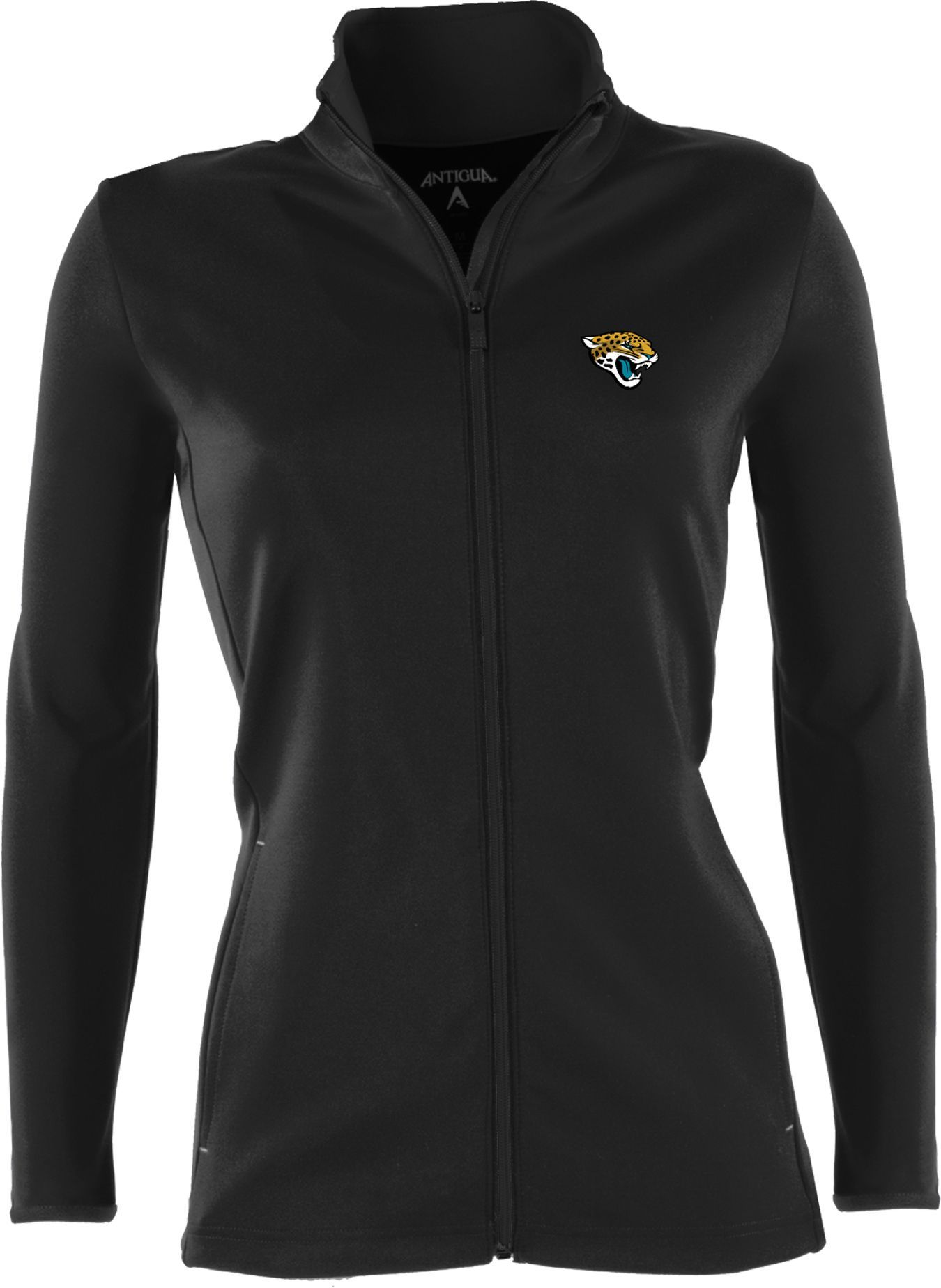 Antigua Women's Jacksonville Jaguars Leader Black Full Zip Jacket  for sale