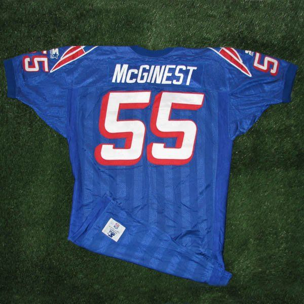 release date: c5c4c d4e18 1995-96 Willie McGinest Game Worn #55 Royal Jersey | My ...