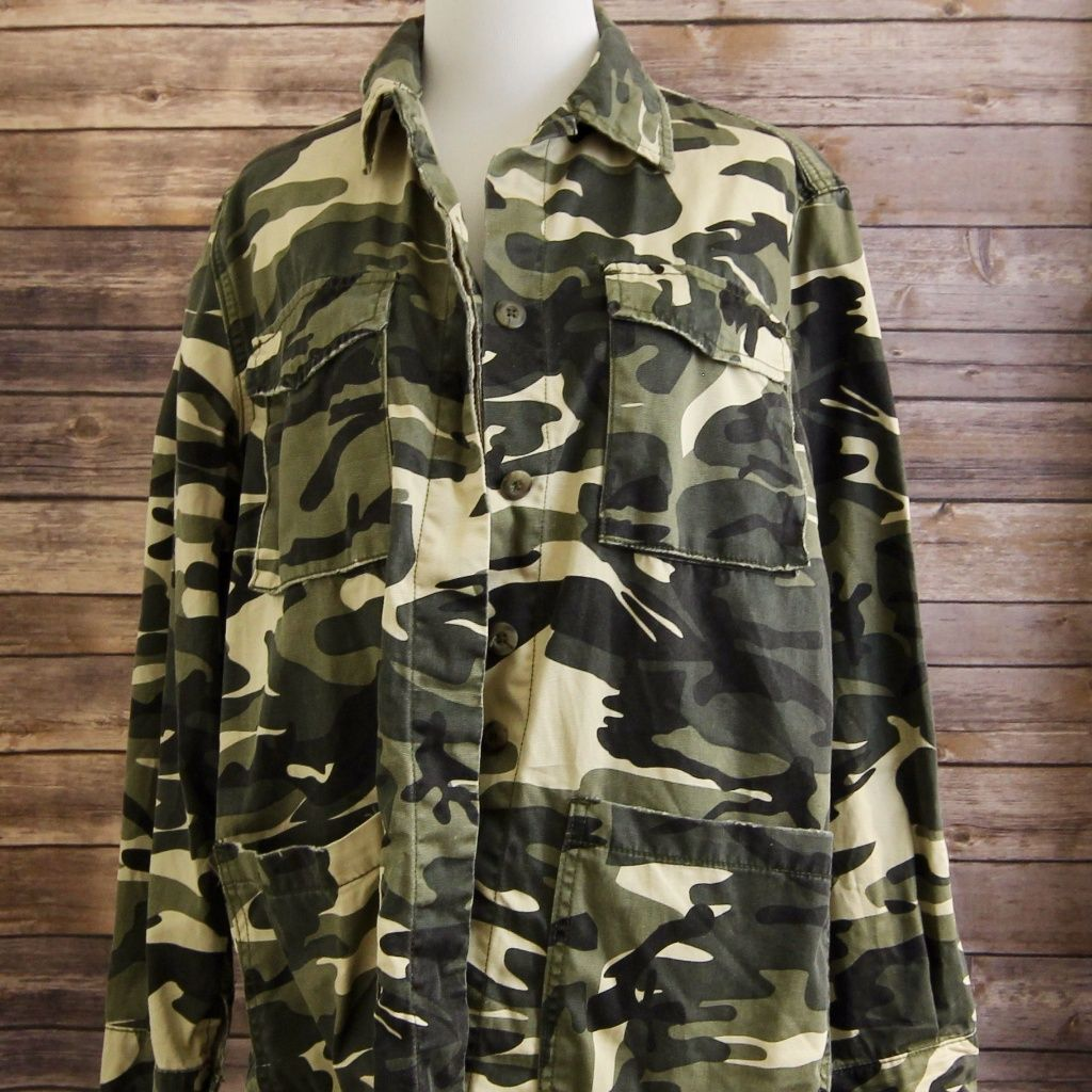 Molly green camo army inspired button up jacket products