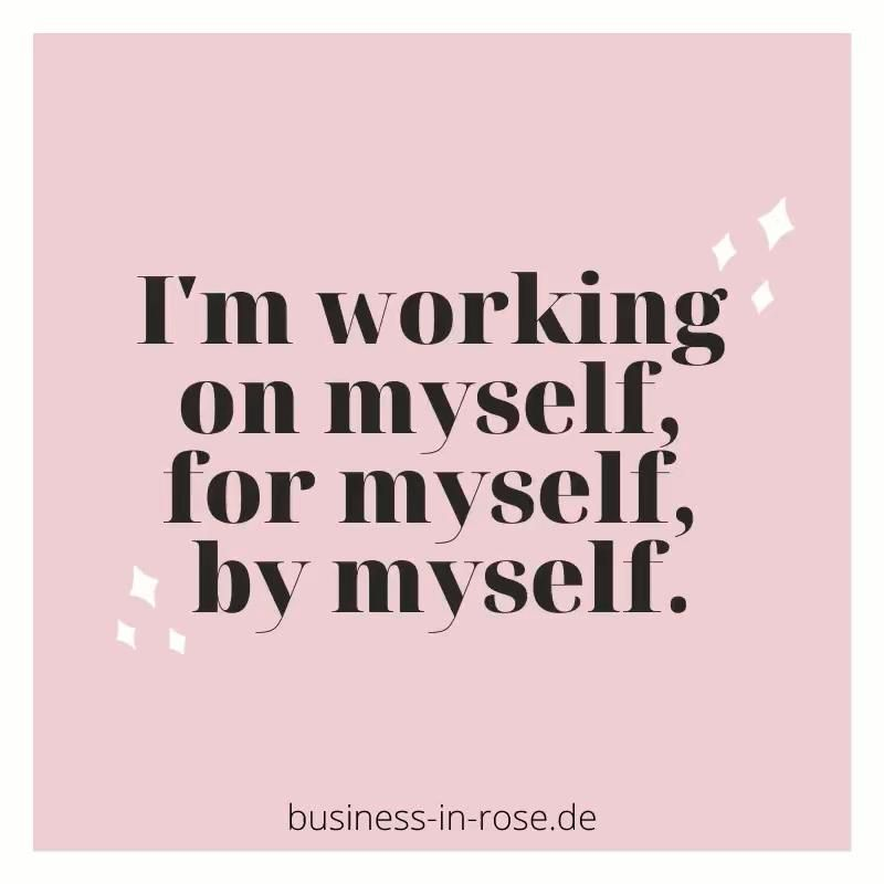 Work for yourself.