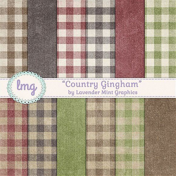 Country Gingham Scrapbook Papers Scrapbook Paper Gingham And Graphics