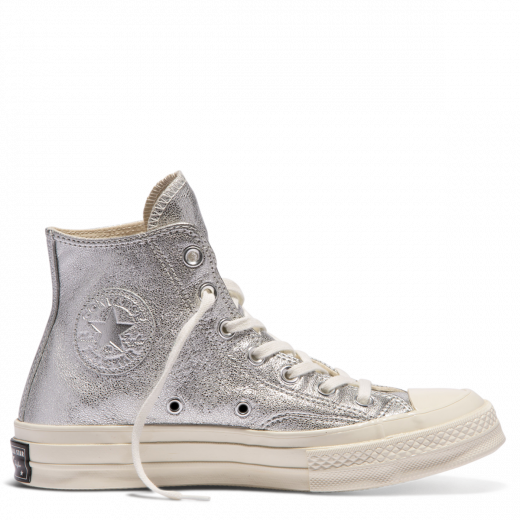 sneakers, Silver converse, Leather