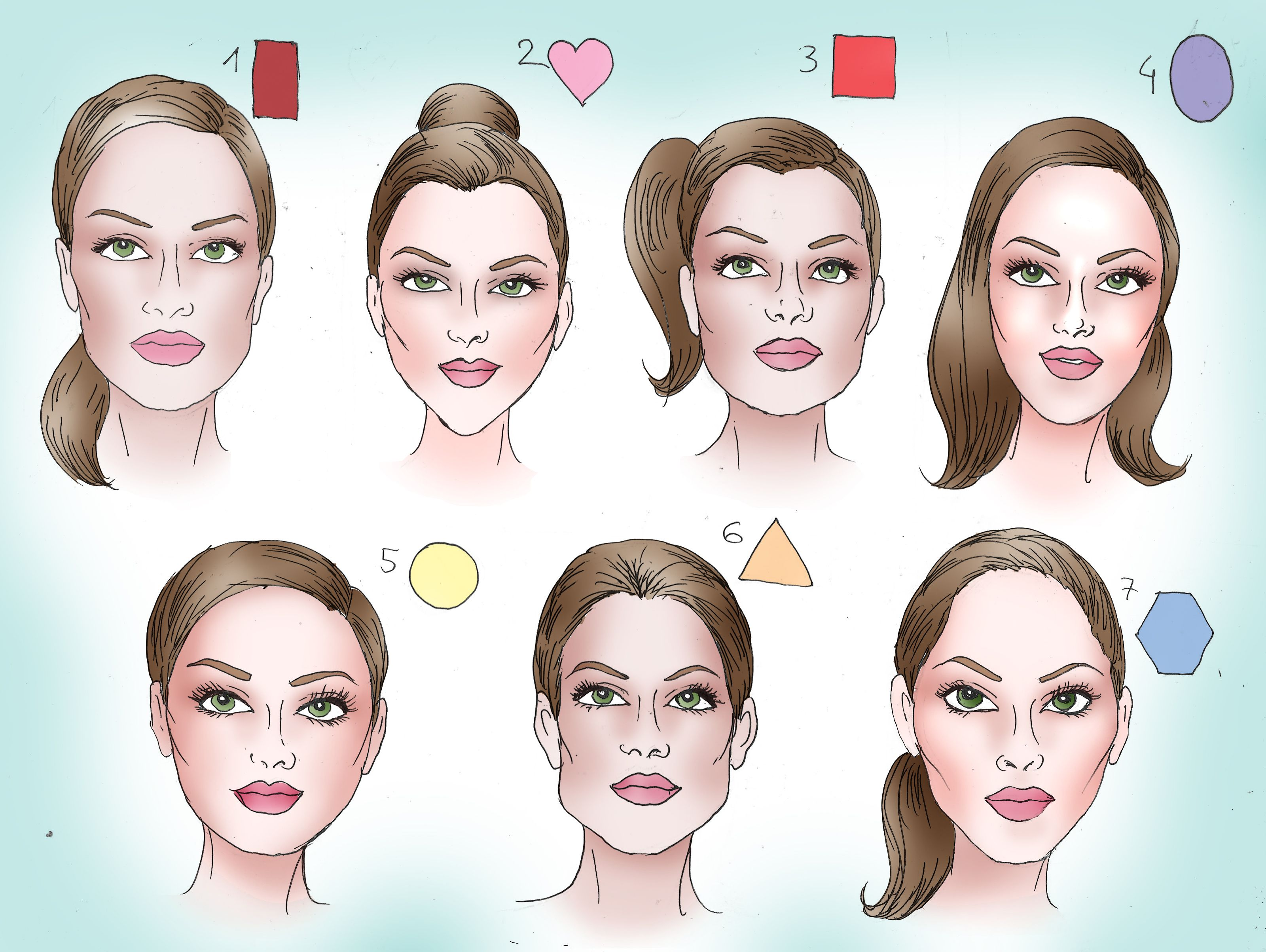 How to Determine Your Face Shape | Face shape hairstyles, Haircut for face  shape, Face shapes