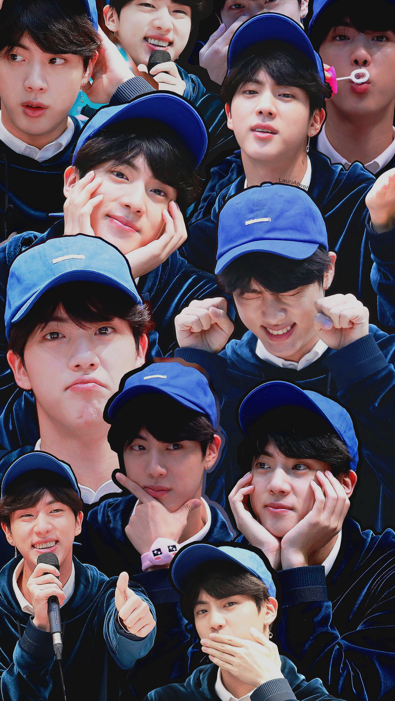 Bts kim seokjin jin lockscreen collage tumblr bangtan #kimseokjin