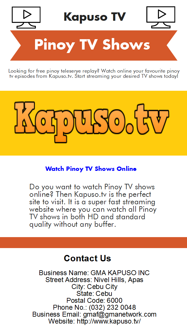 Do you Want to watch Pinoy Teleserye Replay - Philippines, Other Countries  - Best Free