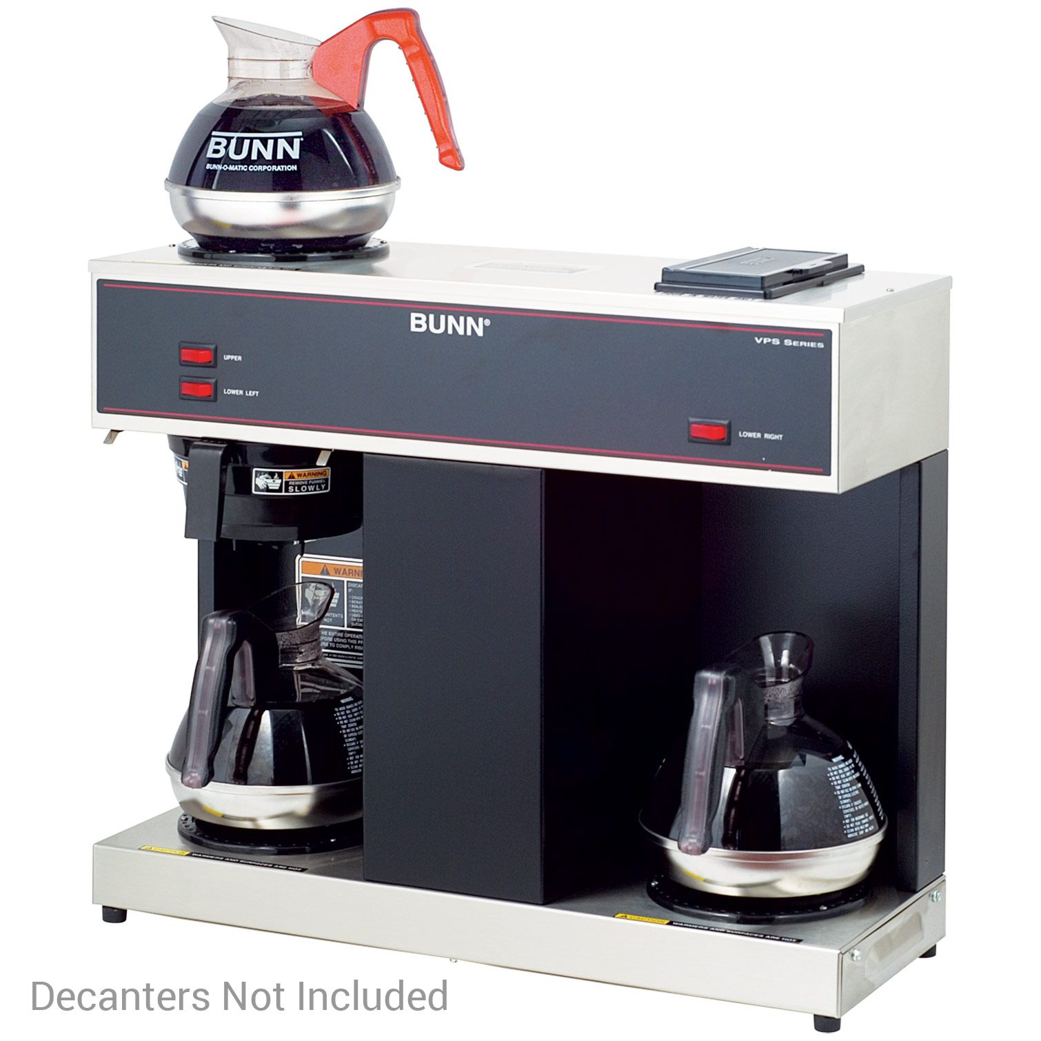 Bunn VPS Pourover 12Cup Coffee Brewer 3 Warmers 04275