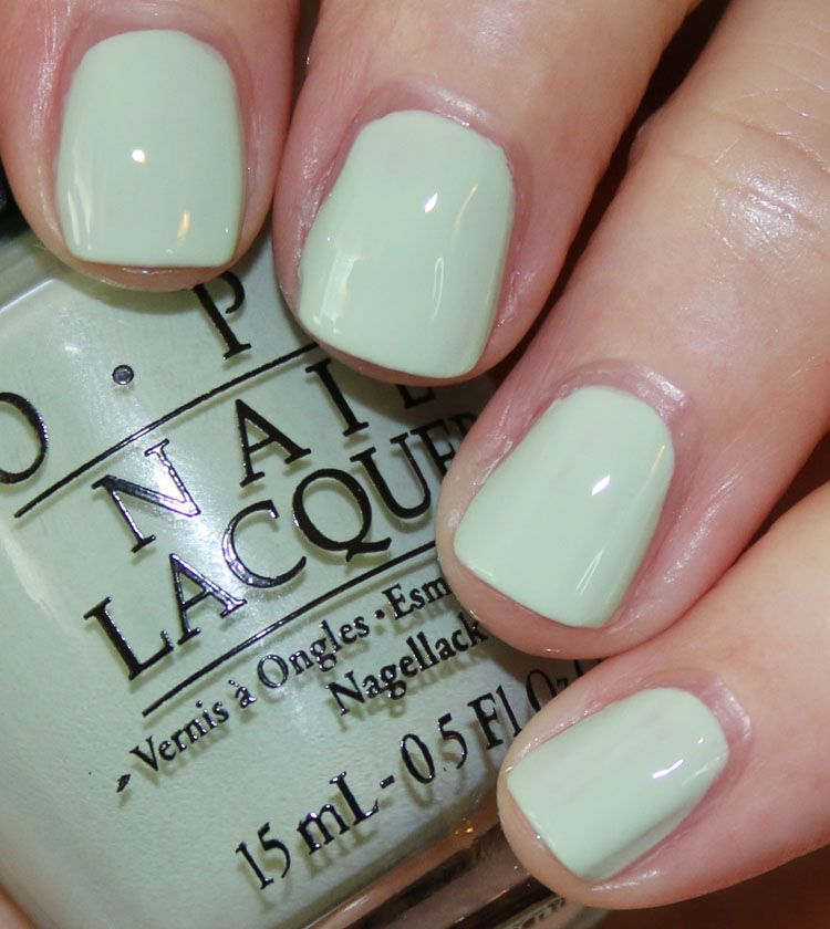 OPI This Cost Me a Mint | the daily nail | Pinterest | Esmalte
