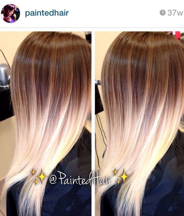 Light Brown To Pearl Blonde Ombre Hair Blonde Brown To Blonde