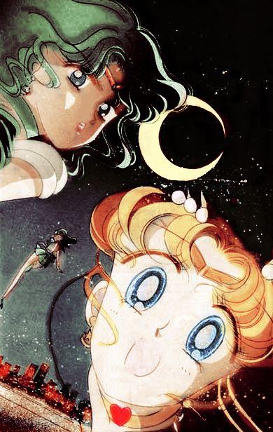 Manga Sailor Neptune and Cosmic Sailor Moon