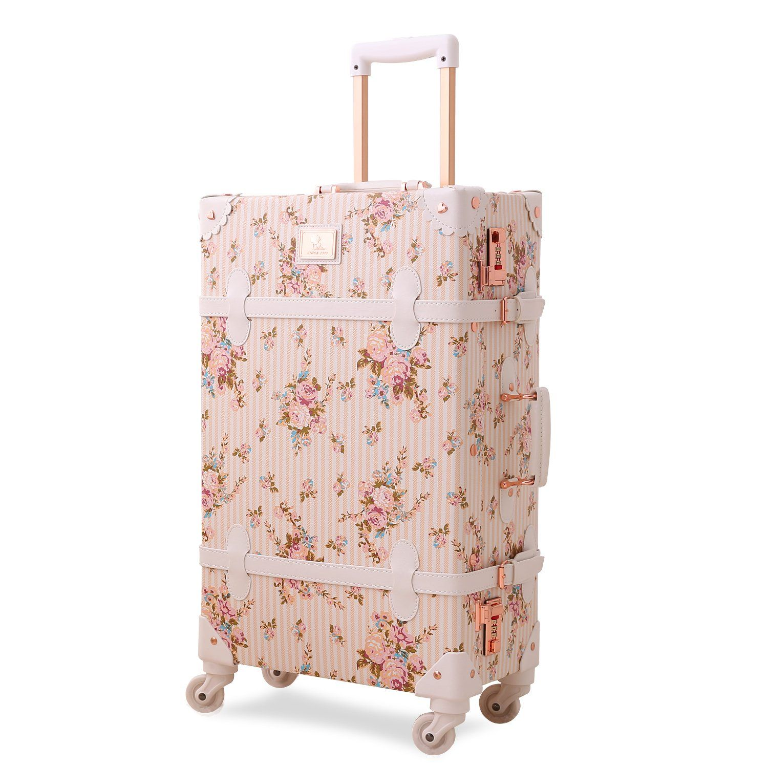 afc8e54bf Vintage Floral Luggage Sets Pu Leather Suitcase Set Hand Bag Spinner Carry  On | Ala's Styles