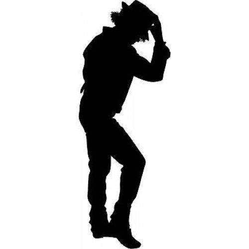 image result for michael jackson pose silhouette